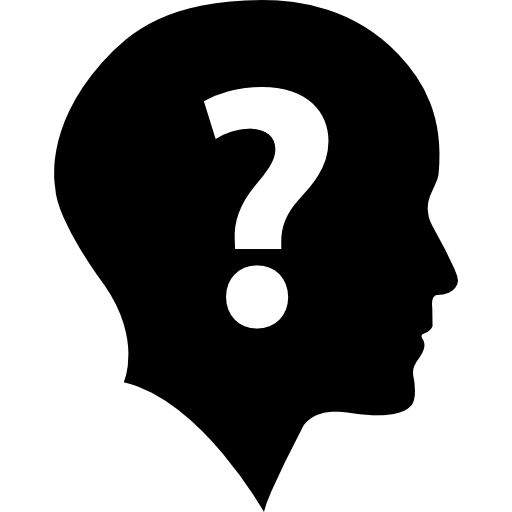 Question mark image png. In head transparent stickpng