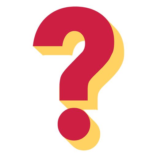 3d question mark png. Red and yellow d