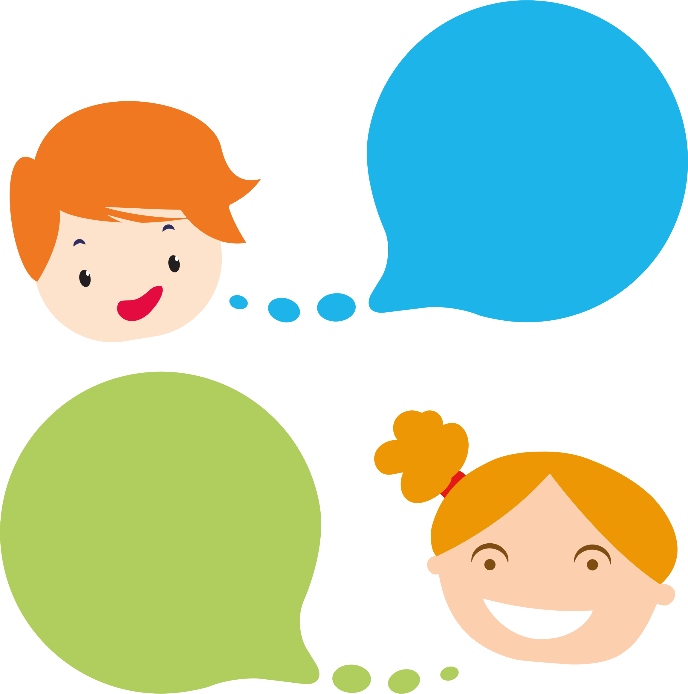 Speech clipart person. Boy and girl with