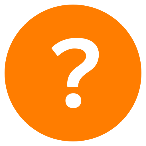 Questions icon png. Simply orange by helge