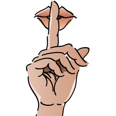 shhh clipart whispering voice