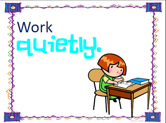 Quiet clipart quietly. At work