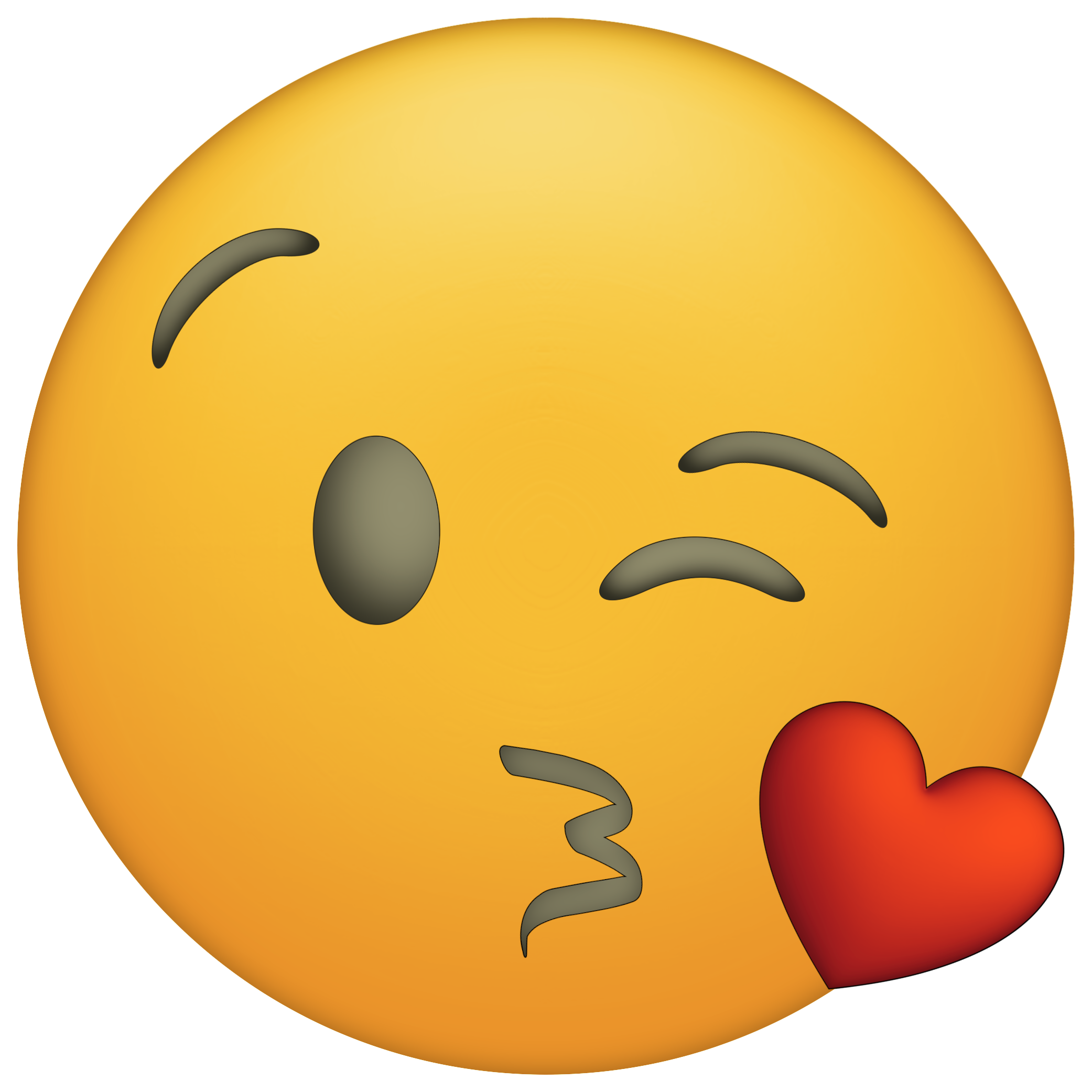 Emojis drawing kissy face. Shhh png library
