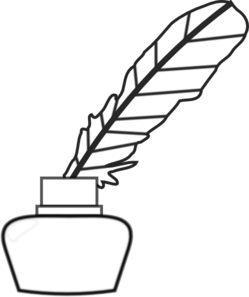 Quill clipart inkwell. Free pen cliparts download