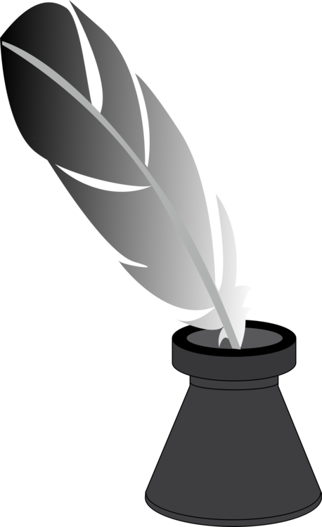 Quill clipart inkwell. Paper fountain pen free