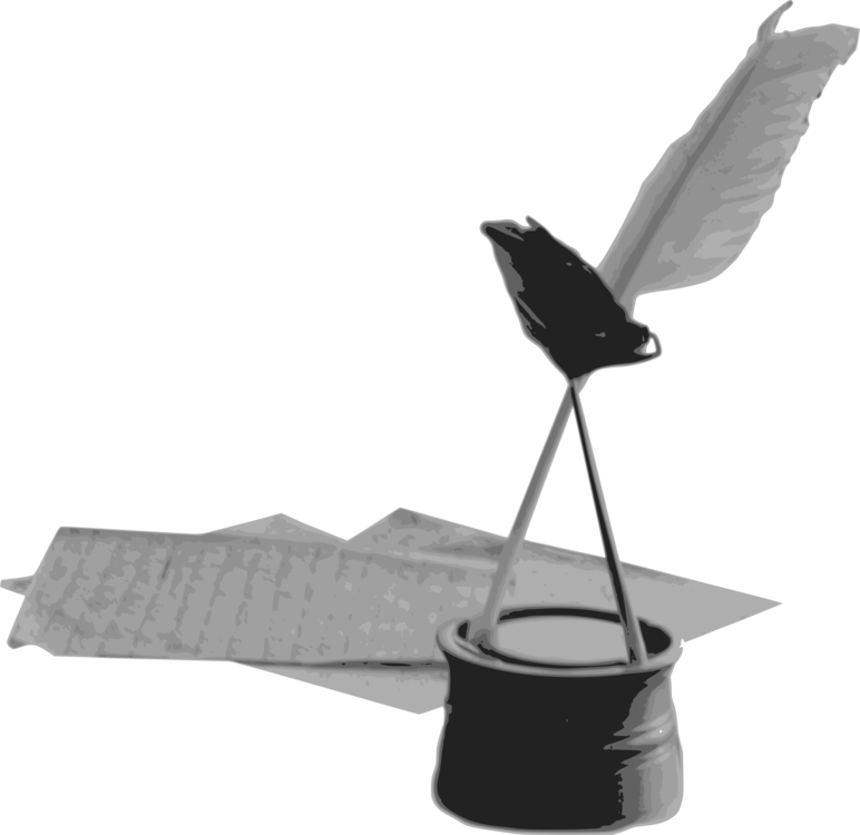 Quill clipart inkwell. Paper pens feather free