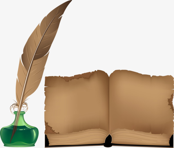 Quill clipart inkwell. Ancient books png image