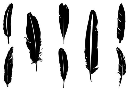 Quill clipart silhouette. Feather cliparts pic to