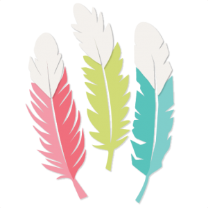 Quill clipart silhouette. Feather set svg scrapbook