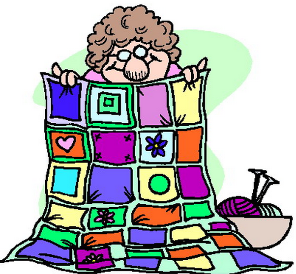 Quilter knitted blanket