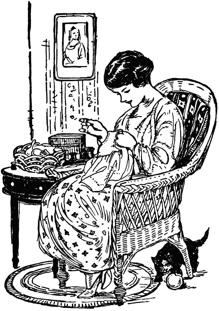 Quilters clipart sewing dress. Best vintage images
