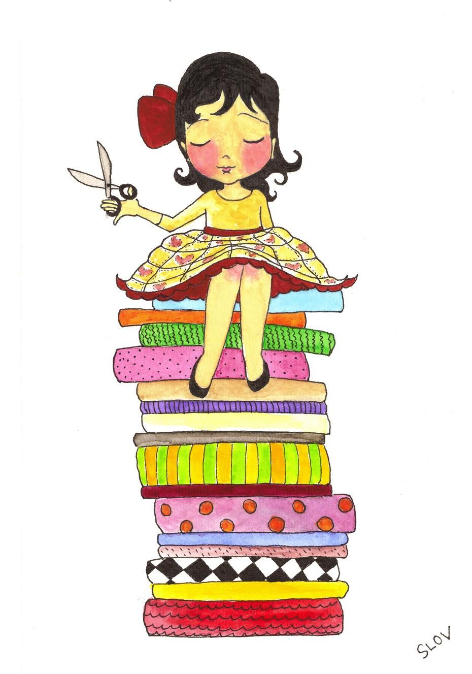 Quilters clipart sewing dress. Moda de casa costureirinha