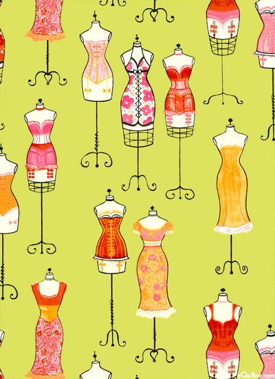 Quilters clipart sewing dress. Up marvelous mannequins chartreuse