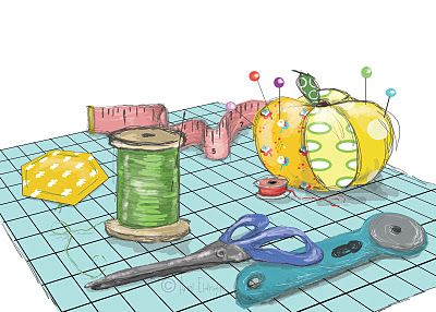Quilting clipart sewing basket. The creative juices of
