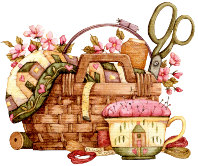 Quilting clipart sewing basket. Pinterest decoupage clip