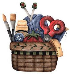 Craft clipart sewing box. Best basket images on