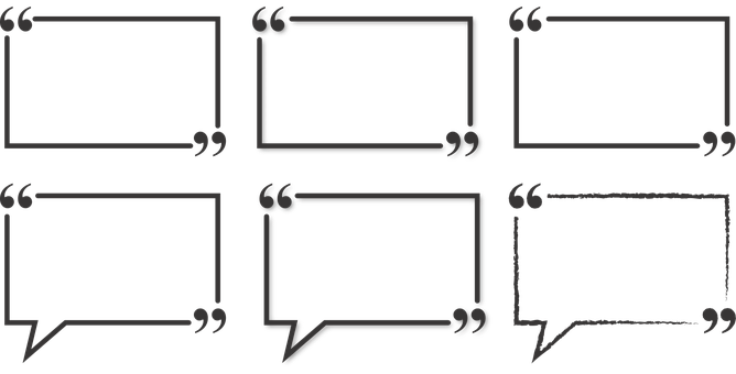 Quote box png. How to write quotation