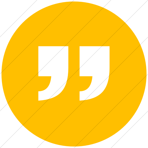 Quote circle png. Iconsetc flat white on