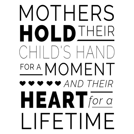 Quote design png. Mothers day typography transparent