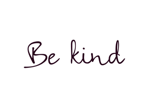 Quote tattoo png. Inspiring words be kind