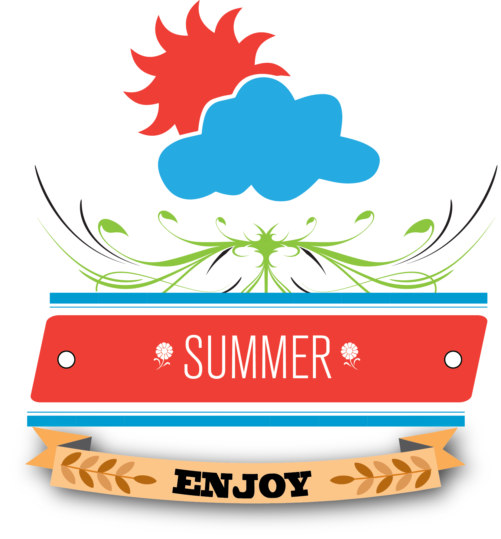 Typography vector summer. Graphic design quotes creativemark