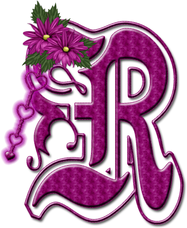 R$ png calligraphy. Alfabeto floral rosa chicle