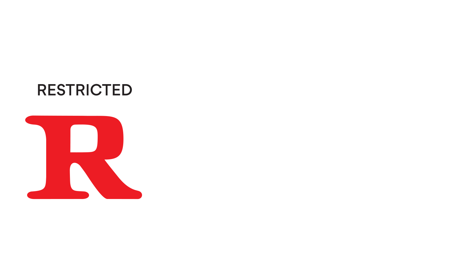 R rating logo png. Ratings information