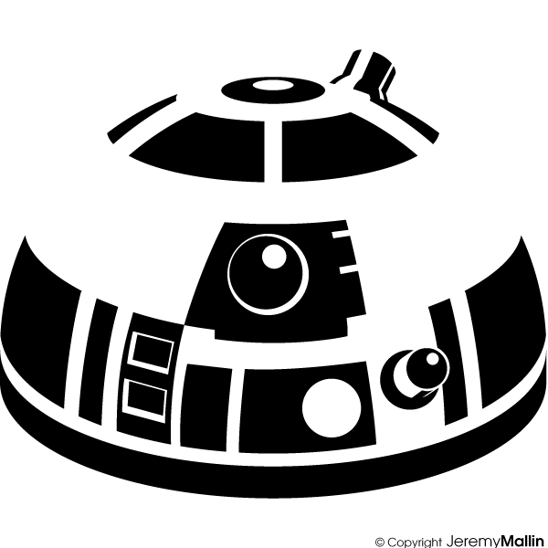R2d2 clipart silhouette. R d at getdrawings