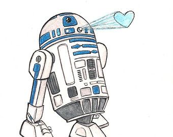 R2d2 clipart valentines. R d drawing at