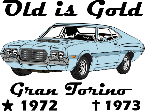 R34 drawing charger. Gran torino old is