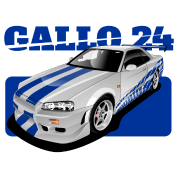 R34 drawing charger. O connor ride nissan
