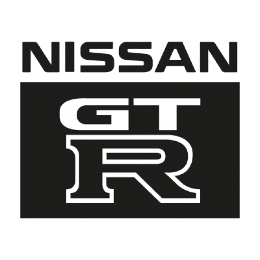 R34 drawing logo. Nissan gtr logos vector