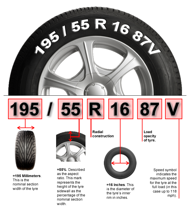 R34 drawing professional car. How to read tire