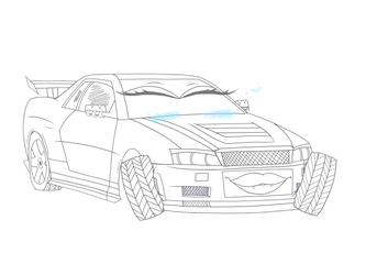 R34 drawing simple. Devious collections favourites by
