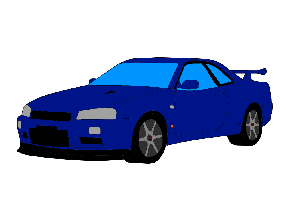 R34 drawing skyline. Nissan r by james