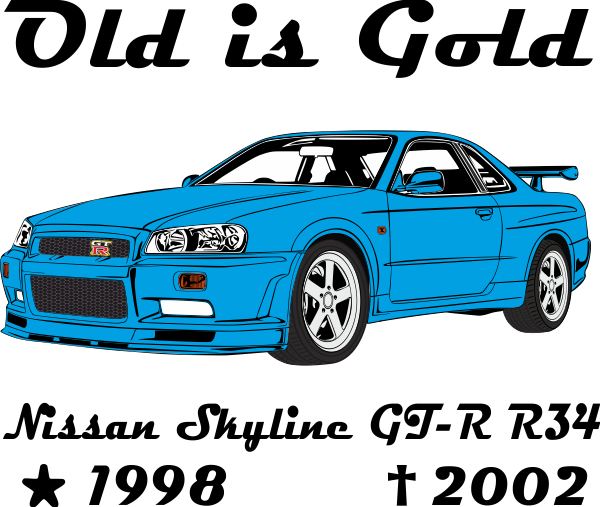 R34 drawing skyline nissan. Gt r old is