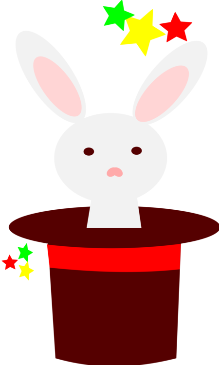 Easter clip hat. Hare domestic rabbit bunny