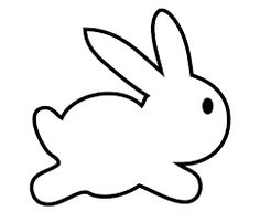 Rabbit clipart line art. Drawings of rabbits and