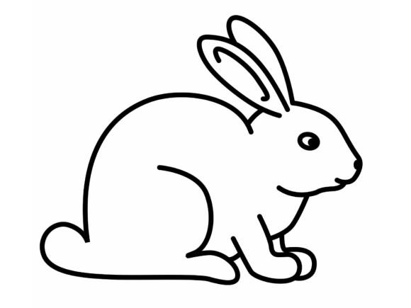 Rabbit clipart line art. Bunny drawing pencil and