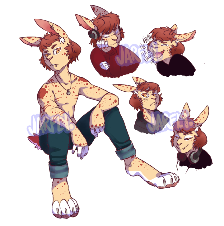 Rabbit furry png. Closed auction anthro oc