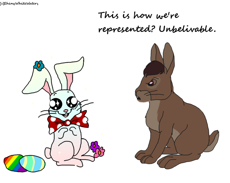 Rabbits drawing side view. Thlayli does not approve