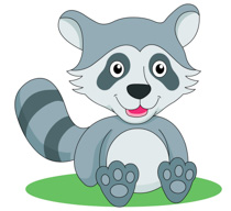Raccoon clipart. Free clip art pictures
