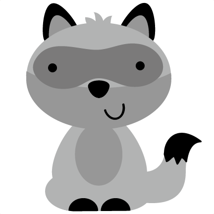 raccoon clipart outline