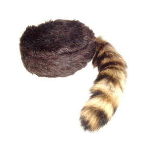 Raccoon hat png. Brown tail coonskin cap