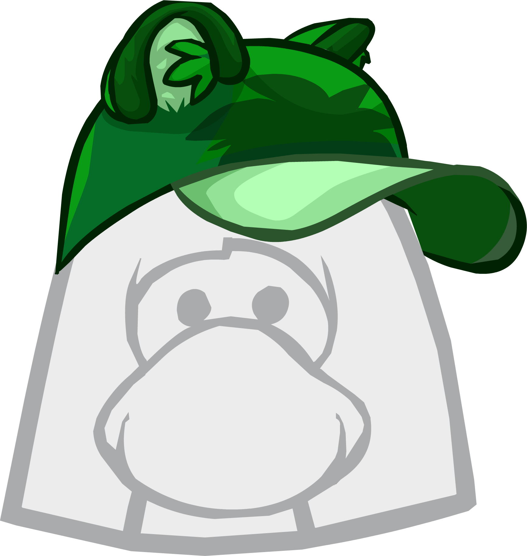 Raccoon hat png. Green club penguin wiki