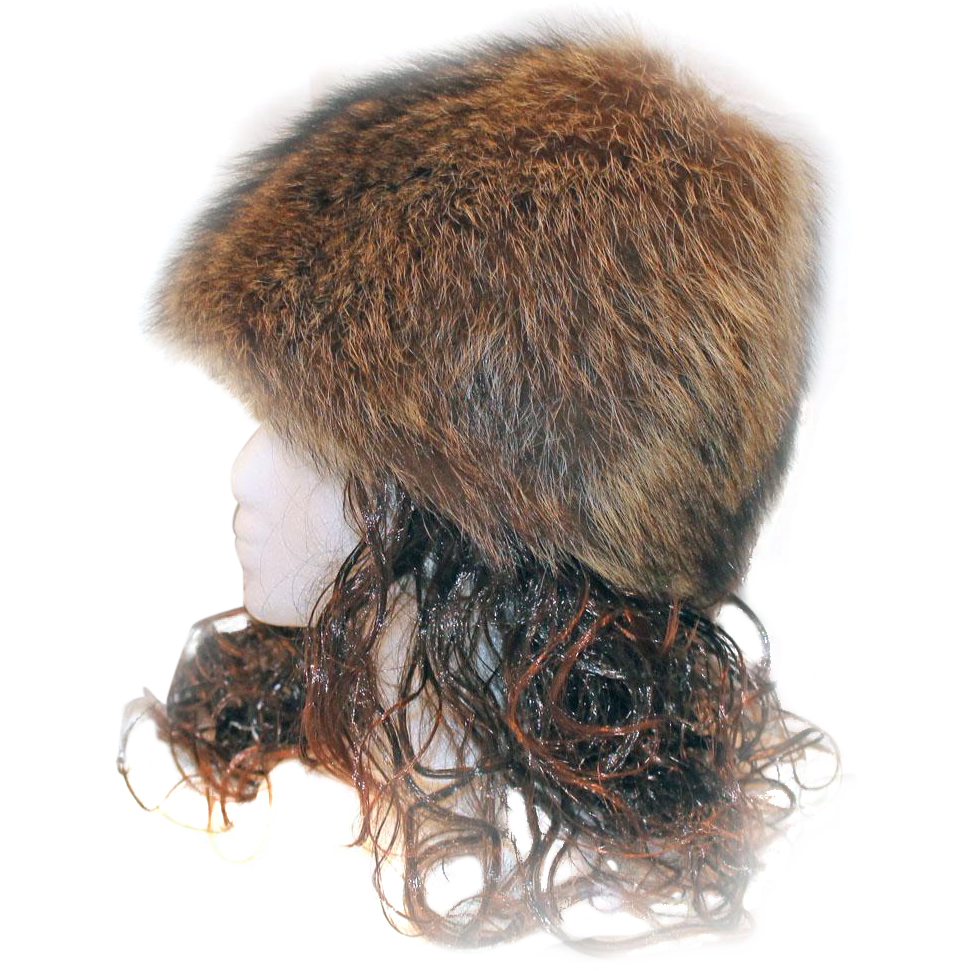Raccoon hat png. Pixie cone style fur