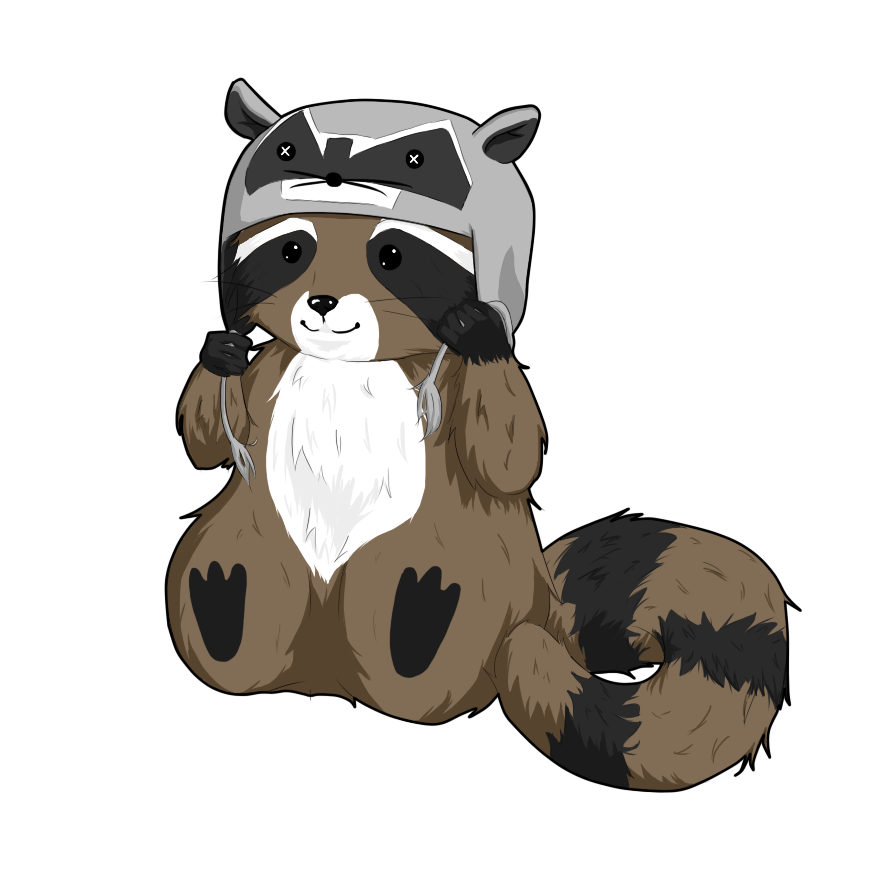 Raccoon hat png. In by xkurai wolfx