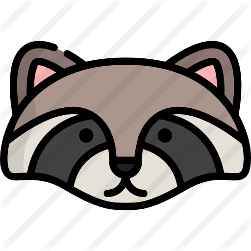 Raccoon icon png. Free animals icons