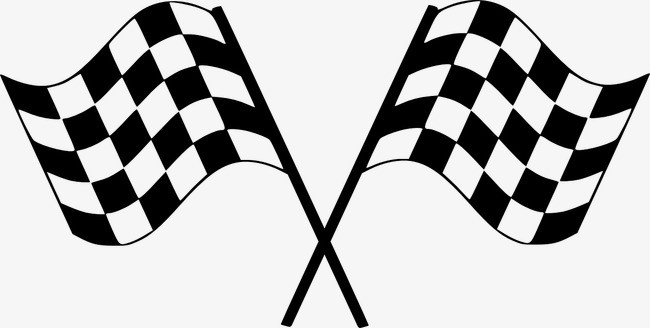 Racing clipart racing banner. Checkered flag physical education