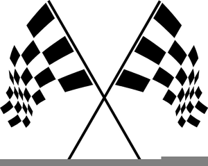 Race clipart checkered flag. Green racing free images